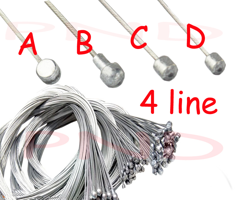 Road bike MTB Bike Fixed Gear Bicycle Brake Line Shift Shifter Gear Brake Cable Sets Core Inner Wire Silver Steel Speed line(China (Mainland))
