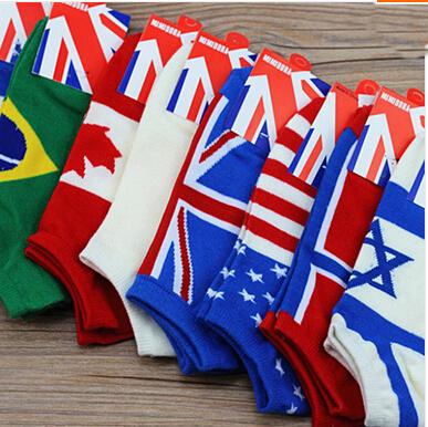 2015 кубок мира флаги Harajuku носки лодка носки унисекс носки