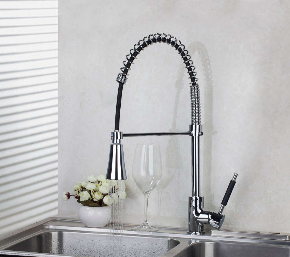 spout spring christian singles Bl- brushed nickel single lever pull down kitchen faucet swivel spout spring mixer tap deck mount please pay more attention to your order addresses which must match your shipping address.