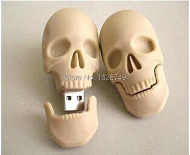Hot Cool Skull Skeleton headshot Grim Reaper The Death ghost USB Flash drive Real 32GB 16GB 8GB Zombies memory stick U disk(China (Mainland))
