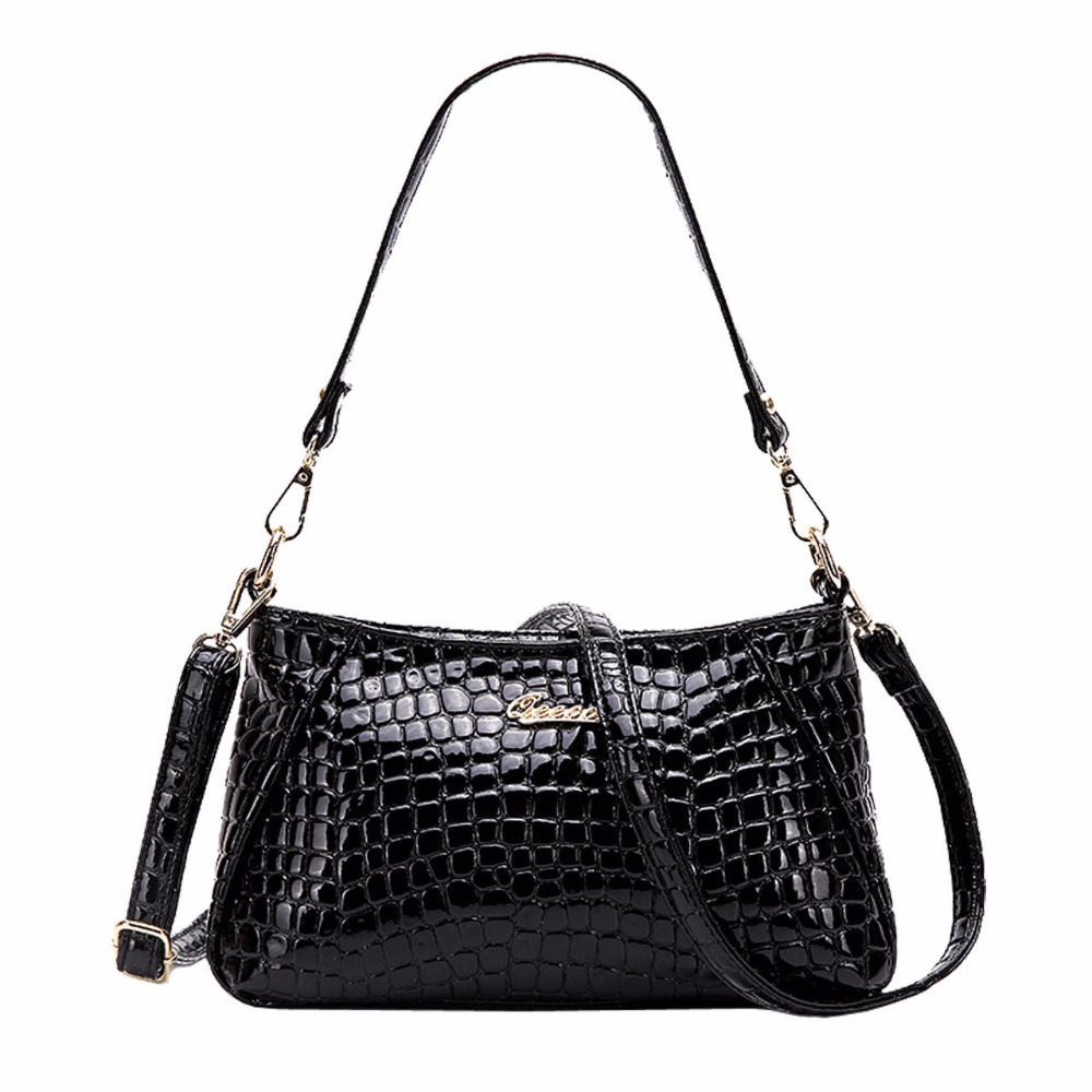 Фотография Embossed  PU Leather Shoulder Bag Women Snake/Crocodile/Leopard Printing Hand Bag Ladies Classic Stylish Handbag Crossbody Bag
