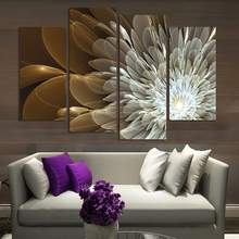 4Panels Wealth And Luxury  Flowers Canvas Wall Painting Art Picture Home Decor On Canvas Modern Wall Painting(China (Mainland))