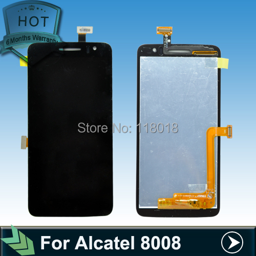 Original LCD Display +digitizer touch Screen For Alcatel One Touch Scribe HD OT8008 OT-8008A 8008W 8008D 8008X 8008 Assembly
