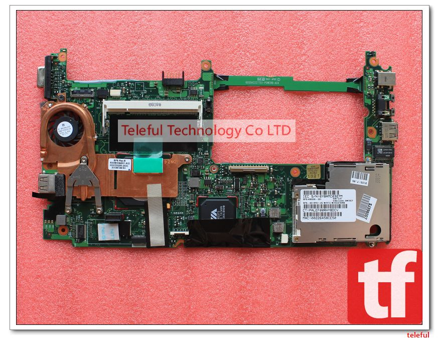 498308-001 Motherboard for HP MINI 2133 VIA C7-M Notebook with onboard 1.2GHz CPU model 100%Tested &Working perfect(China (Mainland))