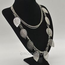 Fashion Jewelry Vintage Bohemian Necklace Leaves Multi Layer Necklace Gold Bohemia Charm Long Necklace Chain Y10