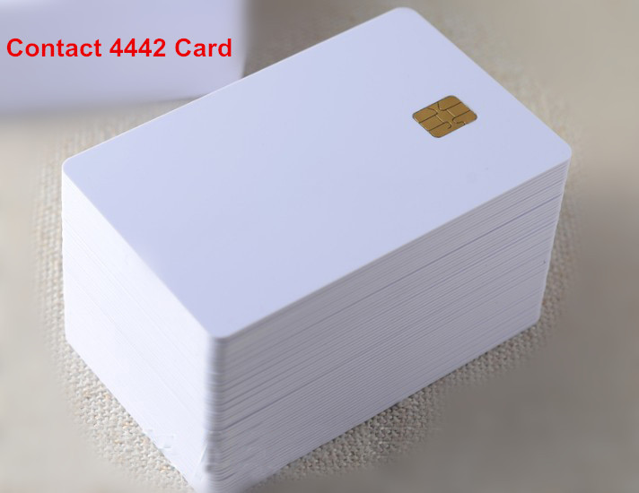 (10 pcs/lot) ISO7816 Contact SLE 4442 Chip PVC Smart IC Card(China (Mainland))