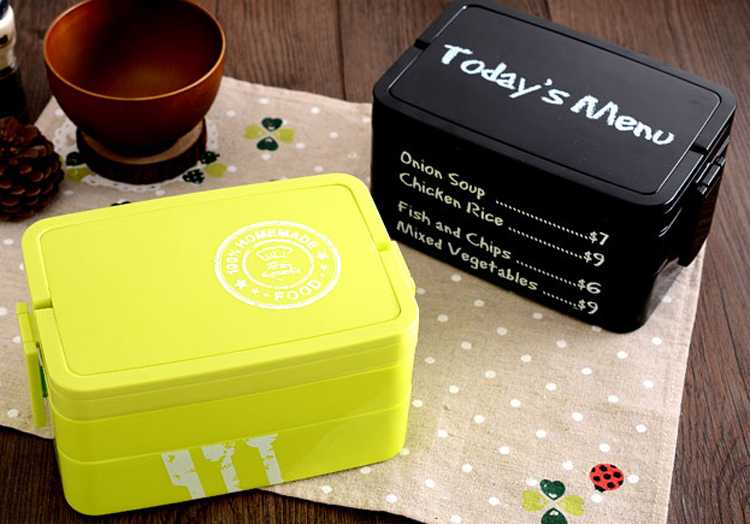 big 3 layers japanese bento lunch box food container w handle lunchbox w a set of spoon and. Black Bedroom Furniture Sets. Home Design Ideas