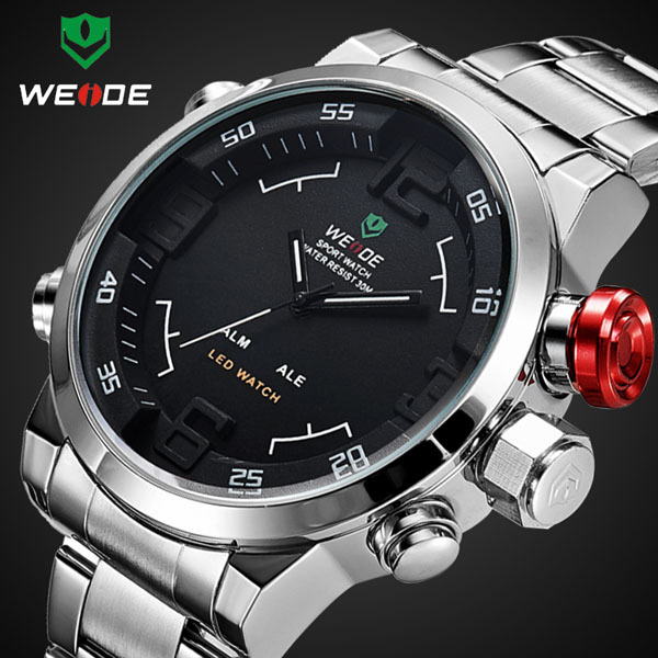 Mens Sports Watch 3ATM Water Resistant Dual Display Back Light Digital Quartz Watch for Men and Women EXPCNI 3238ME