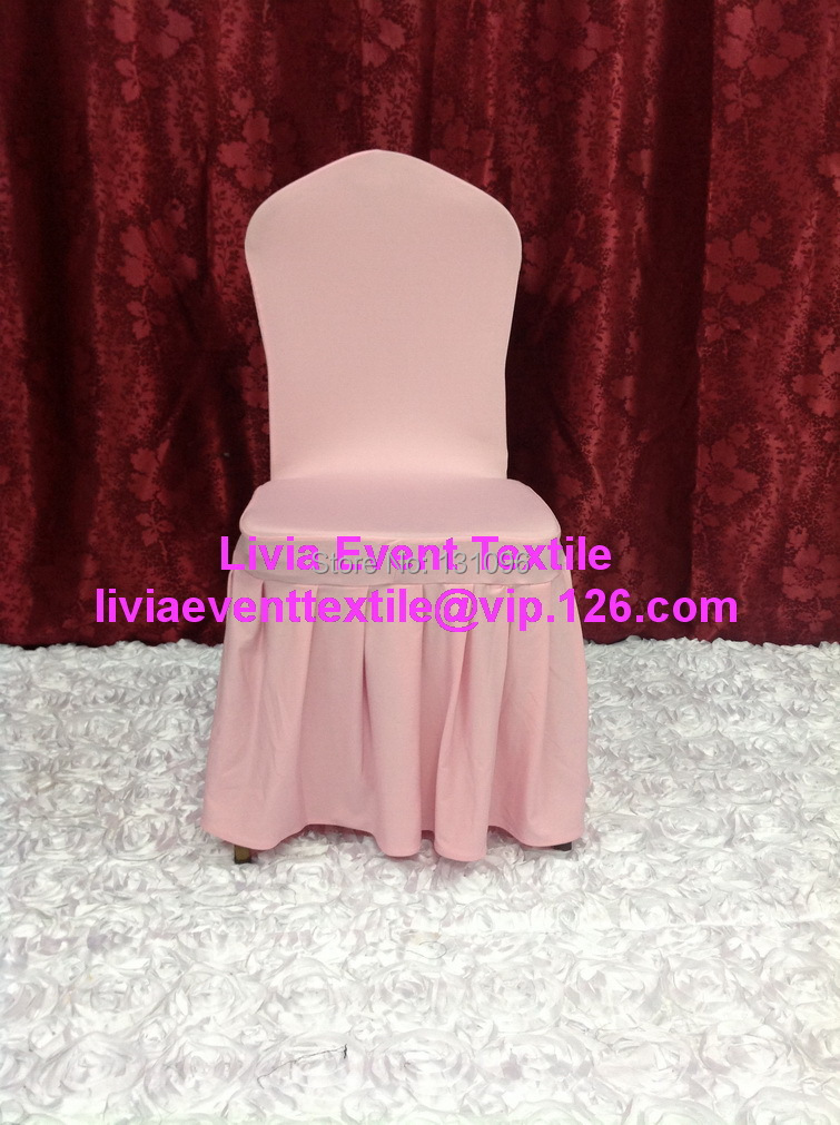 100pcs Extra Thicker #3 Baby Pink Pleated Large Skirting Lycra Chair Cover,Lycra Chair Cover for Wedding Events Decoration(China (Mainland))