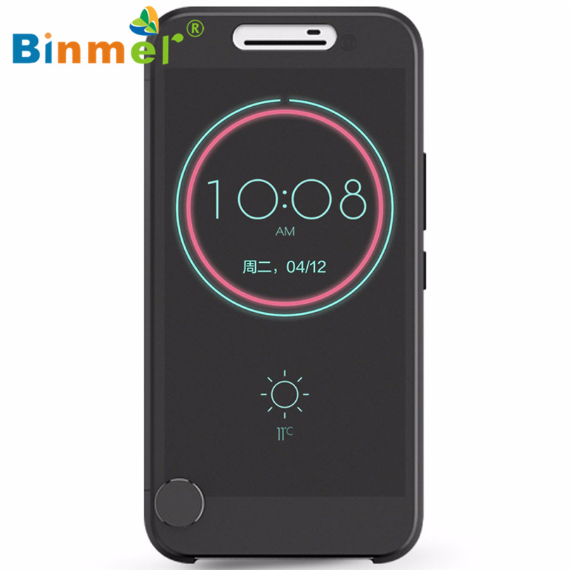 Hot-sale BINMER Black High Quality Phone Case Cover Gifts Ice View IceView Flip Smart Case Cover For HTC 10 m10(China (Mainland))