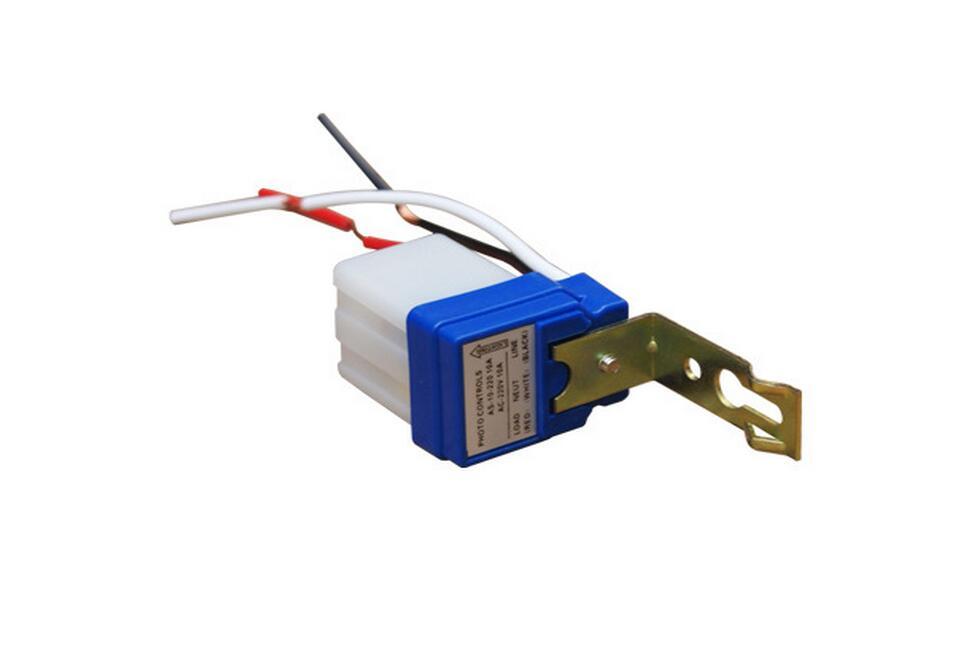 Automatic Auto On Off Photocell street Light Switch Photo Control Photoswitch Sensor DC AC 220V 50-60Hz 10A()