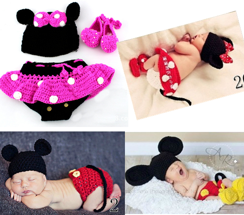 Mickey handmade knitting a special childrens photography clothing studio full moon baby clothing hundred days<br><br>Aliexpress