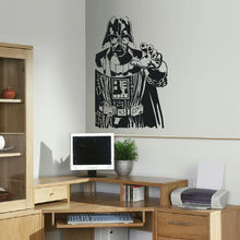 GIANT DARTH VADER STAR WARS CHILDRENS BEDROOM WALL STICKER ART TRANSFER DECAL