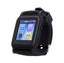 Wholesale White or Black Mp4 Player Watch With 4GB Memory(China (Mainland))