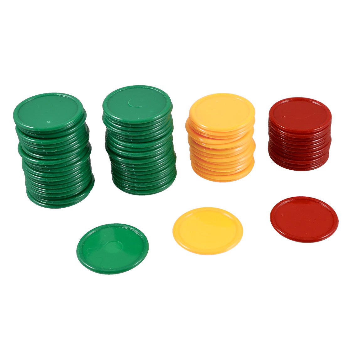 Good deal Red Yellow Green Round Shaped Mini Poker Chips Lucky Game Props 69 Pcs<br><br>Aliexpress