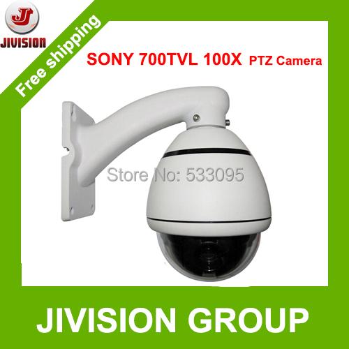 PTZ Camera 100X Sony CCD 700TVL PTZ Dome camera CCTV Mini high Speed Dome PTZ Camera Outdoor Waterproof ceilling wall mounted(China (Mainland))