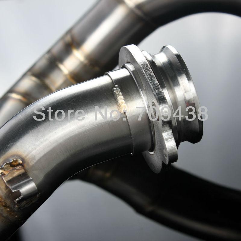New T.I.G Welding T304 Stainless Steel Motocross Head Pipe Exhaust Header For HONDA CRF450R CRF 450 R 09-12 2009 2010 2011 2012