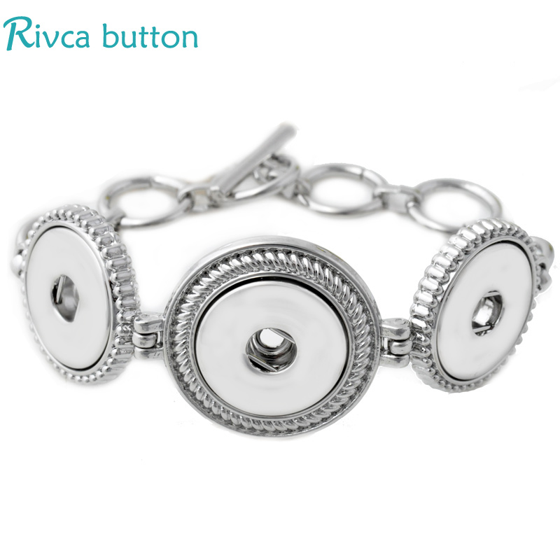 P00688 newest Design fit 18mm button chain antique silver metal snap button charm Bracelet jewelry(China (Mainland))