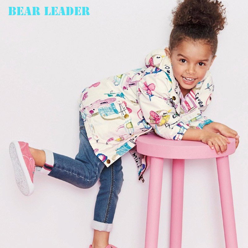 Bear Leader Girls Coats and Jackets Kids 2016 Spring Brand Children Jackets for Girls Clothes Cartoon Hooded Girls Jackets(China (Mainland))