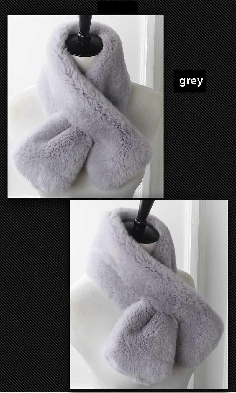 rex fur scarf grey 3
