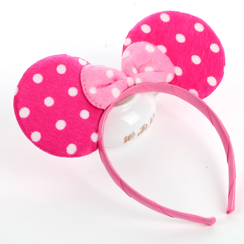 Halloween Christmas Children's Day Kids Children Baby Girl Mouse ears pink Hairband Headband Headpiece Bow Knot for girl boy(China (Mainland))