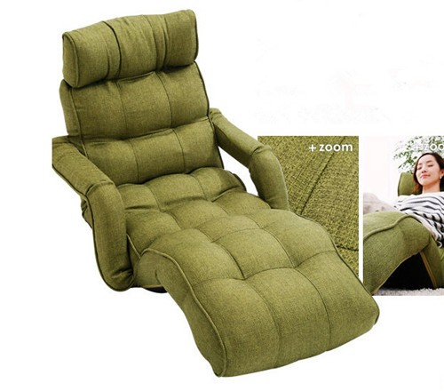 Floor Folding Sofa Chair 3 Color Adjustable Recliner Living Room Furniture Ja