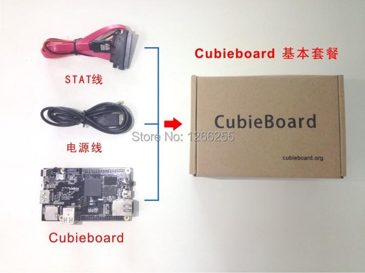 Free Shipping A10 Raspberry Pi Enhance Version Mini PC Cubieboard 1GB ARM Development Board A10-SOC Cortex-A8(China (Mainland))