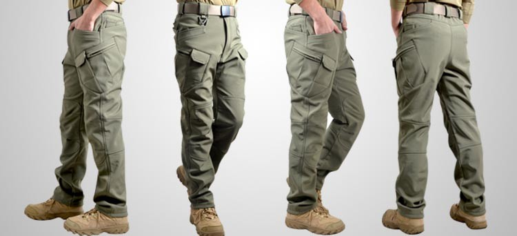 Men Winter Waterproof Fish Tactical Shark Skin SoftShell Hiking Military Pant Man Army