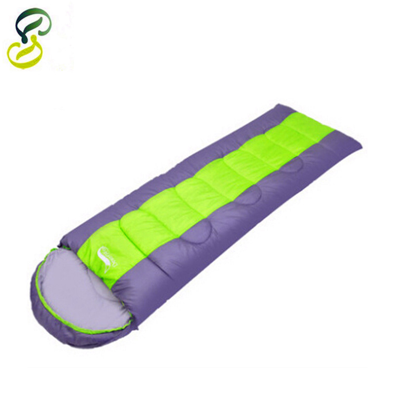 New Brands Sleeping Bag Spring And Autumn Cotton Standard Sleeping Bags Outdoor Camping Splicing Sleeping Bag 3 Colors