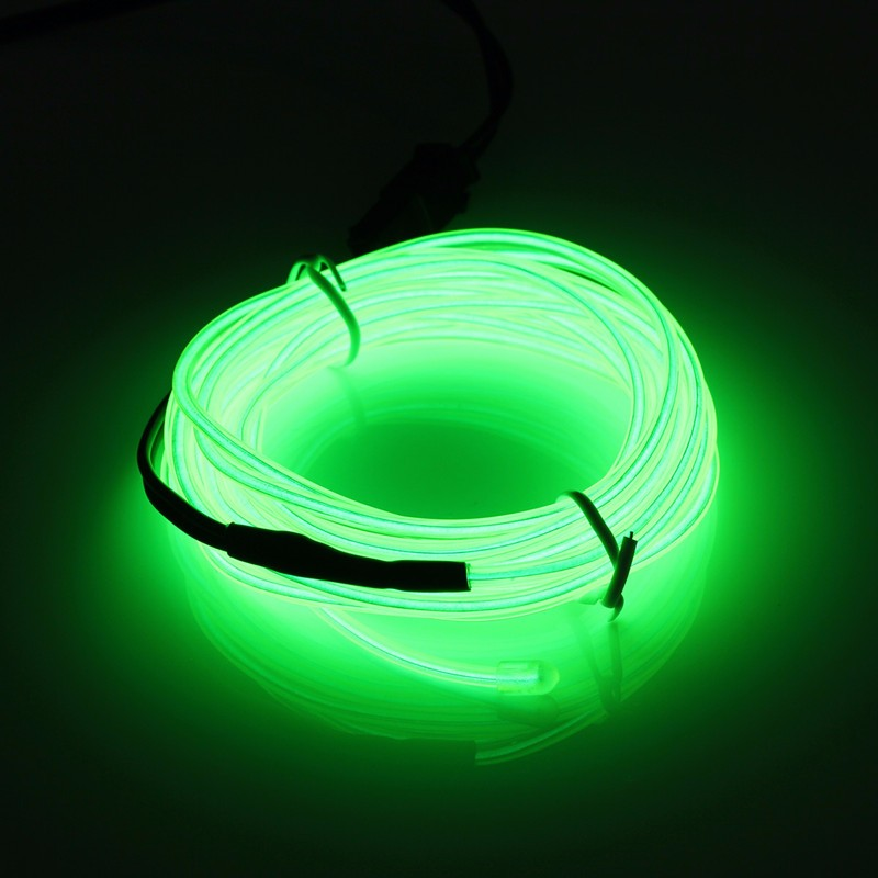 Best Promotion 10 Colors 300CM Led Flexible EL Wire Neon Glow Light With 12V Controller Party Decor(China (Mainland))