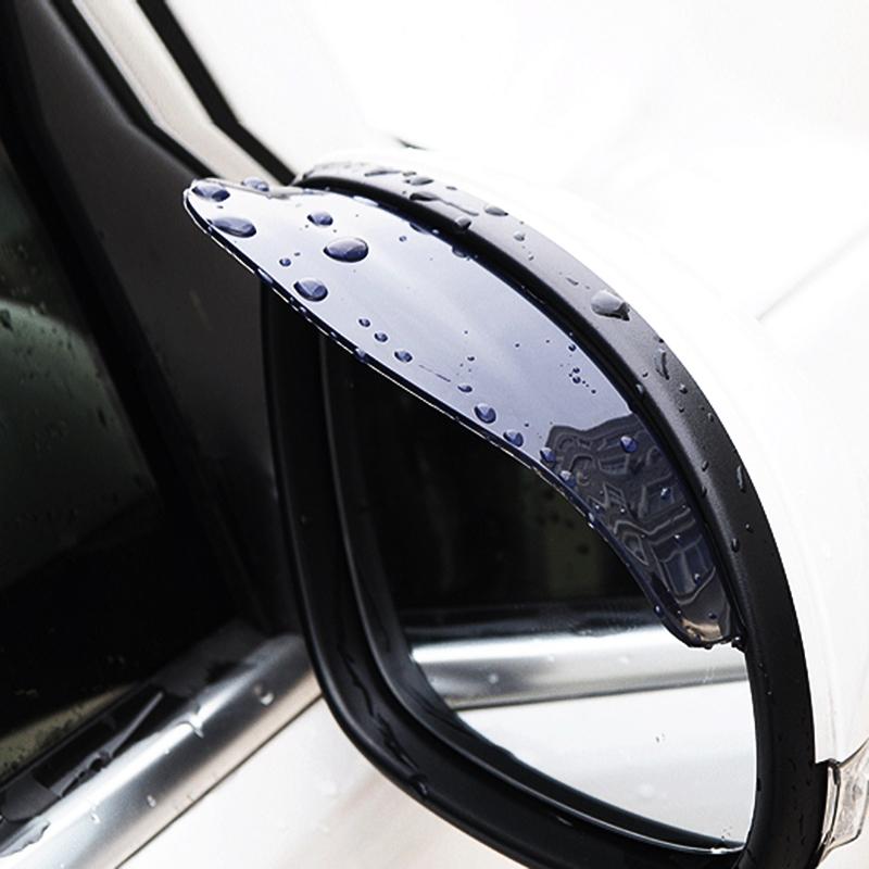 1Pair Car Styling Universal Rain Shield Flexible Peucine Car Rear Mirror Guard Rearview Mirror Rain Shade Auto Rainproof Eyebrow(China (Mainland))