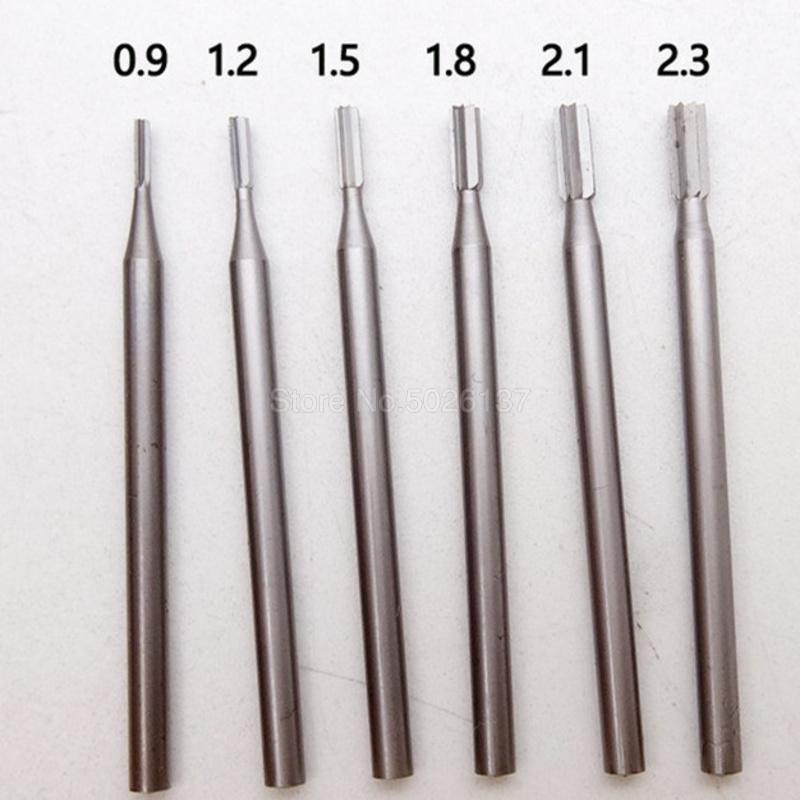 5Pcs 0.5-3.175mm End Mill Thread Cutter Drill Bit Milling Tool Straight Shank
