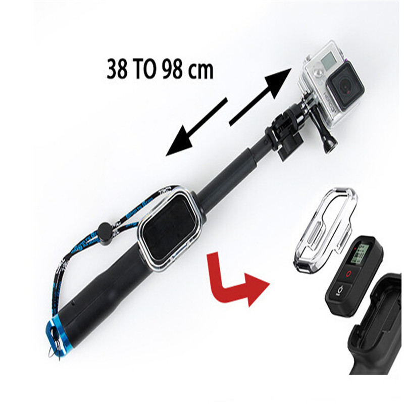 New Go pro Stick With Wireless Remote Shutter Control Extended Handheld Monopod Tripods For GoPro Hero