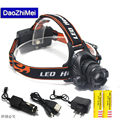 Emergency lights LED Headlamp CREE L2 LED 4800Lm 3 mode Zoomable Waterproof Headlamp Headlight LED Head