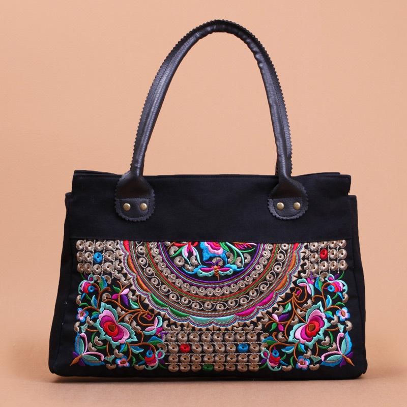 Women Handbag Vintage Elegant Handmade National Retro Embroidered Bag Female Canvas Tote Shoulder Bag CY48-08<br><br>Aliexpress