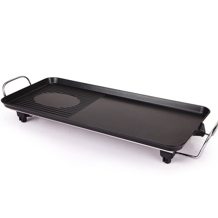 Huanyi large grill household electric Teppanyaki Korean commercial home appliance electric heating smokeless barbecue 68*28cm(China (Mainland))