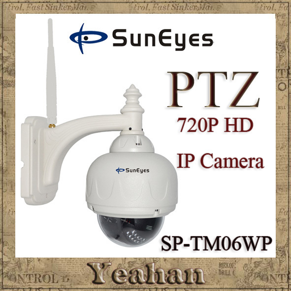 10pcs/lot SunEyes Outdoor Wireless Weatherproof  720P PTZ Dome IP Camera Wifi Network CCTV Camera SP-TM06WP