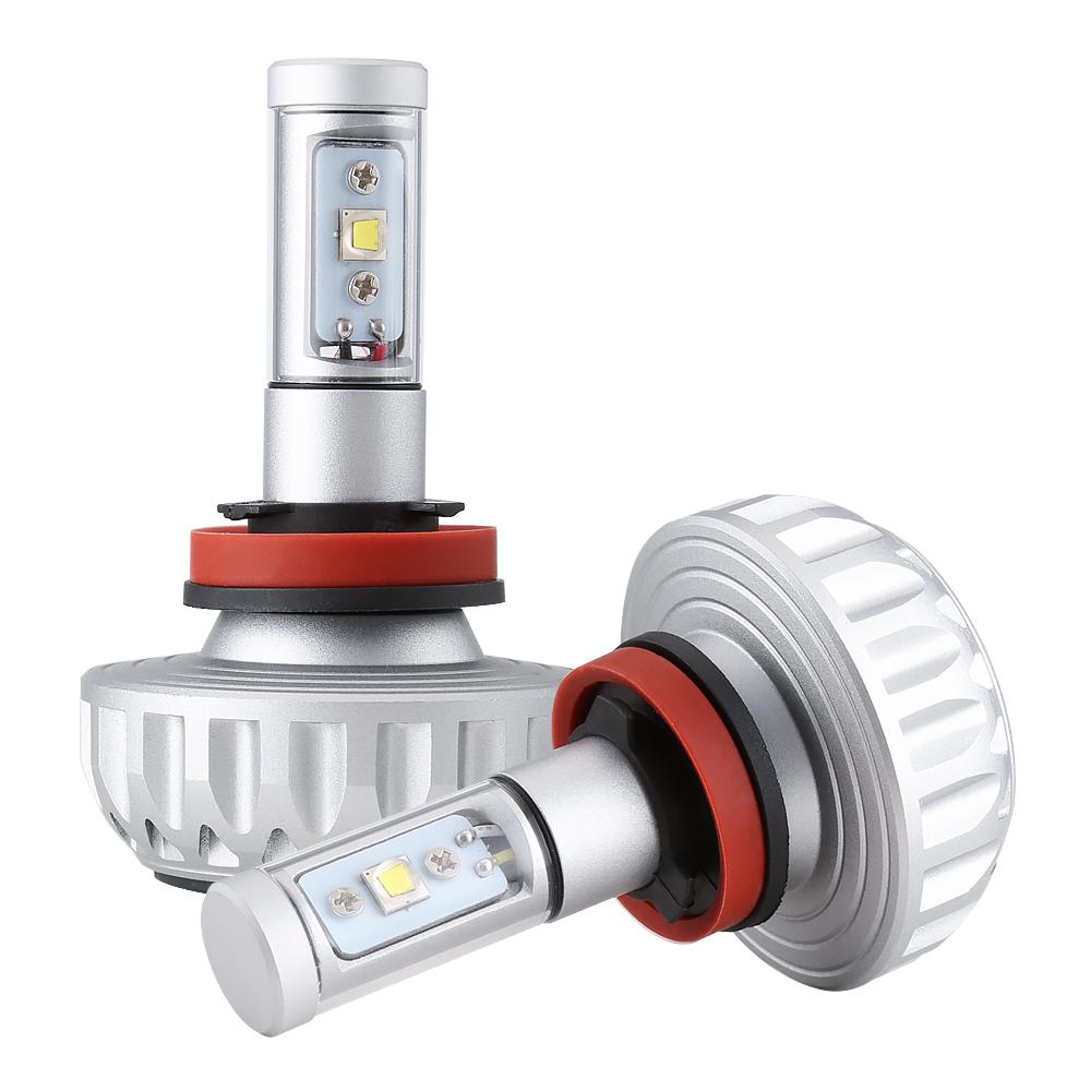 LED Car Headlight LED Lamp DIY 5 Color Films H4 H7 LED Car Light Bulbs H11 High Power Auto 6500k 8000k Foglight Plug&Play(China (Mainland))