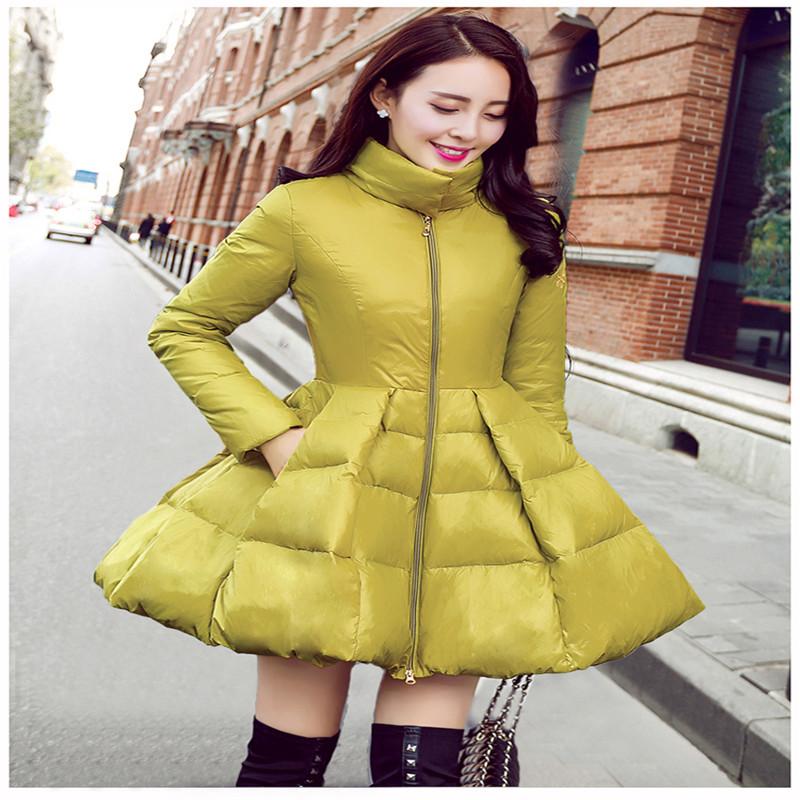 2015 new style Winter European  Korean tidal Girls long Slim Down thin knee  cloak put on a large women winter coat PUN017Одежда и ак�е��уары<br><br><br>Aliexpress