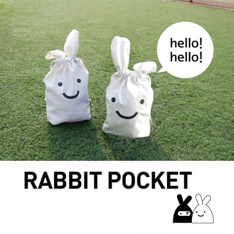 Free Shipping White Multifunction Rabbit Shrink Bag Pouch Cosmetic Case Storage Pocket Bags Best Price(China (Mainland))