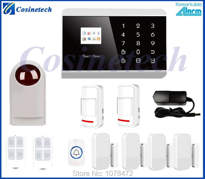 TFT color display, humanized menu, clear voice prompt,Touch keypad GSM PSTN Home security alarm System <br><br>Aliexpress