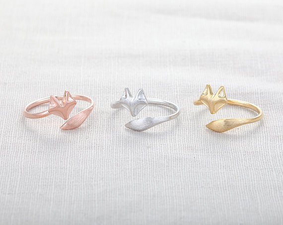 1pc Cute Fox Ring Animal Rings Cool Rings for Women R017(China (Mainland))