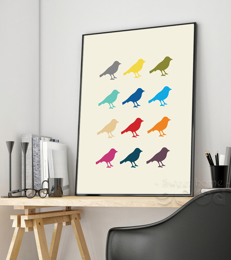 Buy Lovely Bird Canvas Art Print Poster Wall Pictures For Home Decoration