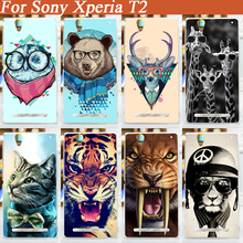 11 patterns hard cover case Sony Xperia T2 Ultra Dual D5322 XM50h D5303 diy Painted colored animals Cover - Shenzhen Fdt technology company.,Ltd store