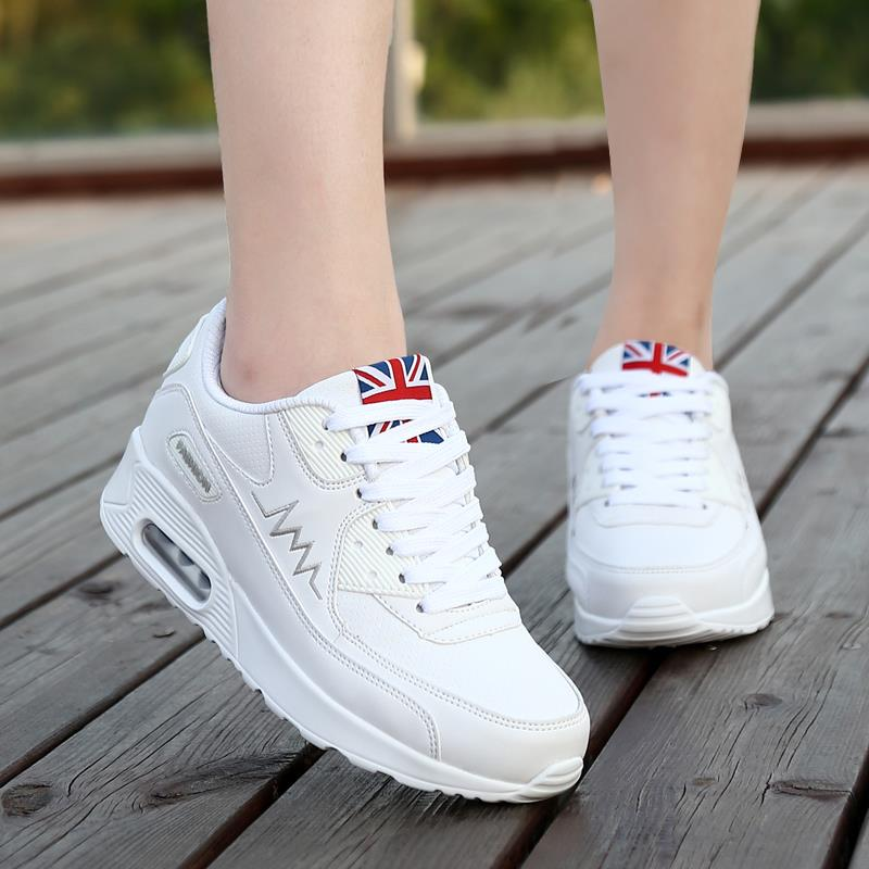 Hot Sale Women shoes 2016 newest lace up air mesh breathable platform  fashion white black red wedge womens casual shoes<br><br>Aliexpress
