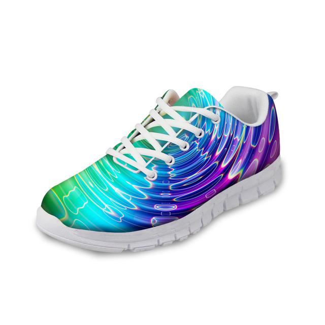 Прохладный красочные 3D напечатаны свободного покроя мужская обувь на шнуровке Chaussare ...