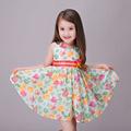 Fashion 2016 Bow Infantil Girl s Tutu Costume Dresses Kids Toddler Summer Floral Print De Festa