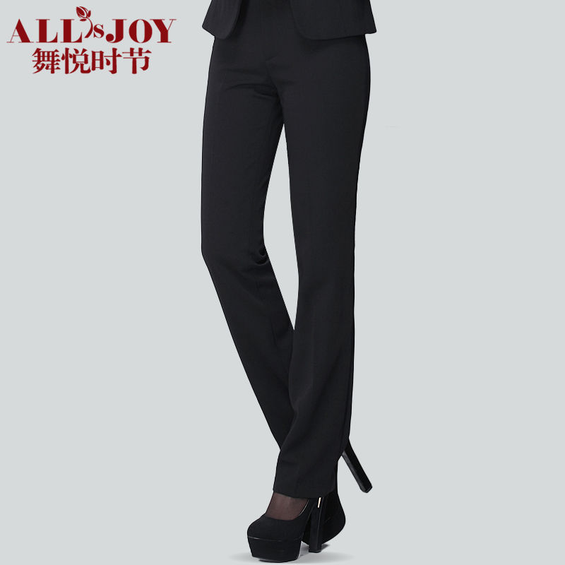 Formal pants western-style trousers Casual women's Autumn and winter black plus size overalls straight Pants Free shipping(China (Mainland))
