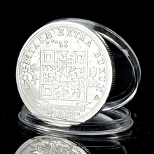 Buy SAE Fortion Cheap Silver Plated Veritas Vos Librabit 2014 Quarter Coin Free silver Commemorative COINS Bitcoin peace BTC024 for $1.32 in AliExpress store