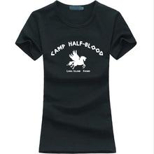 Camp Half-Blood 2016 summer Cool Demigod Women Tshirt funny cotton tee Shirt femme harajuku brand fashion kawaii punk slim tops